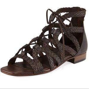 NWOT Sesto Meucci Gidget Gladiator Sandal   7M